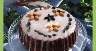 Пирог медовый с миндалем