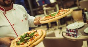 пиццу в итальянской пиццерии
