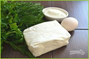 Белковый салат с зеленью - фото шаг 1