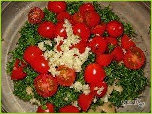 Быстрый салат с фасолью - фото шаг 2