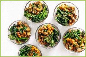 Пряный курино-картофельный салат
