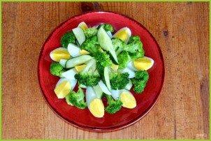 Салат из брокколи и огурцов - фото шаг 6