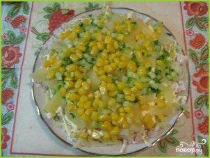 Салат из курицы с ананасом и огурцом - фото шаг 4