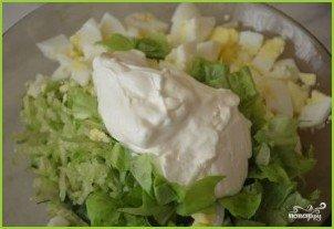 Салат из редьки с яйцом - фото шаг 7