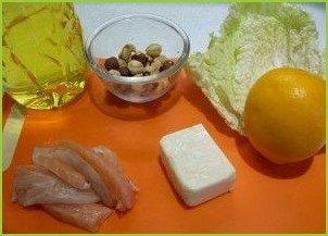 Салат из слабосоленой красной рыбы - фото шаг 1