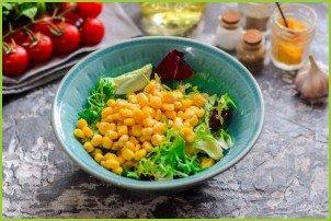 Салат с брокколи и кукурузой - фото шаг 3