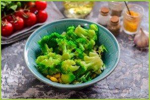 Салат с брокколи и кукурузой - фото шаг 4