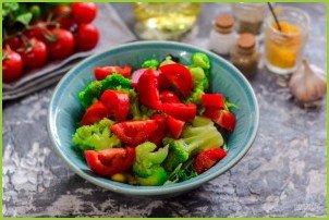 Салат с брокколи и кукурузой - фото шаг 5