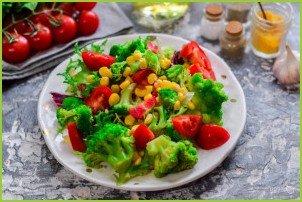 Салат с брокколи и кукурузой - фото шаг 6