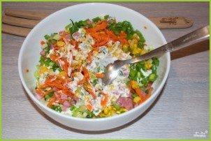 Салат с кукурузой консервированной - фото шаг 4