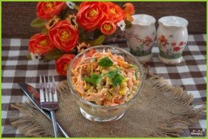 Салат с кукурузой консервированной - фото шаг 5