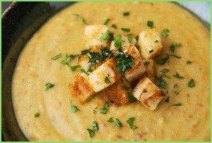 Гороховый суп-пюре с сухариками - фото шаг 11