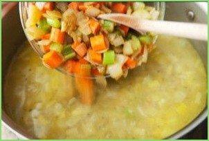 Гороховый суп-пюре с сухариками - фото шаг 6