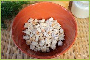 Салат из курицы с ананасами (классический) - фото шаг 3