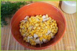 Салат из курицы с ананасами (классический) - фото шаг 4