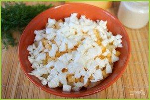 Салат из курицы с ананасами (классический) - фото шаг 7