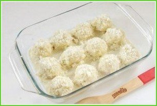 Творожно-куриные шарики под кабачковым соусом - фото шаг 9