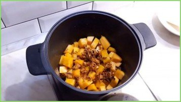 Крем-суп из тыквы с лисичками - фото шаг 3