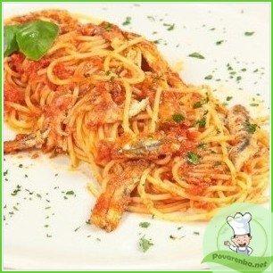 Спагетти с анчоусами - фото шаг 4