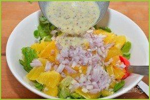 Апельсиновый салат с зеленью - фото шаг 6