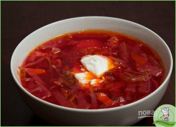 Борщ без томатной пасты - фото шаг 1