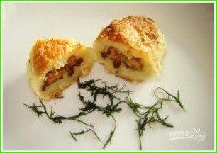Куриные котлеты с грибами и сыром - фото шаг 6
