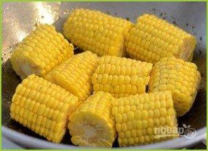 Овощной салат с кукурузными початками - фото шаг 4