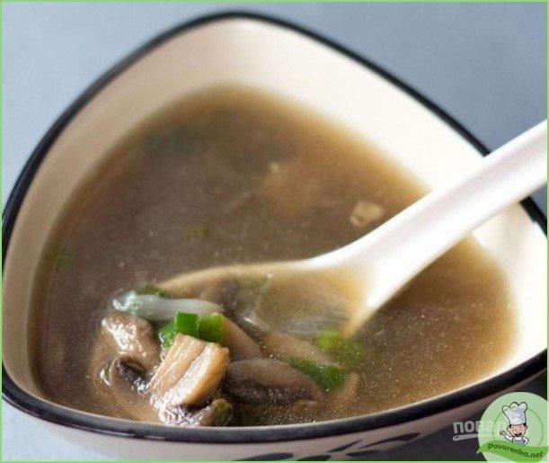 Рецепт супа с грибами - фото шаг 1