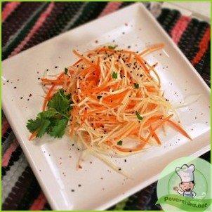 Салат из редьки с морковью - фото шаг 6