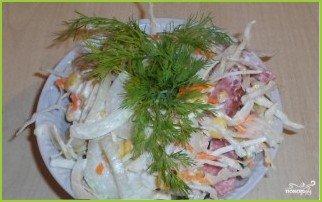 Салат из свежей капусты и копченой колбасы - фото шаг 8