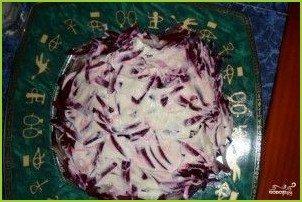 Салат из зеленого лука с гранатом - фото шаг 5
