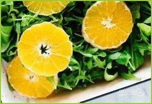 Салат с апельсином и рукколой - фото шаг 3