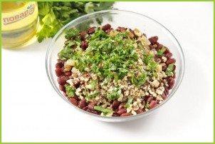 Салат с фасолью без майонеза - фото шаг 6