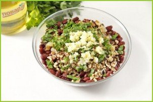 Салат с фасолью без майонеза - фото шаг 7