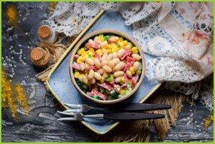 Салат с кукурузой, колбасой и фасолью - фото шаг 6