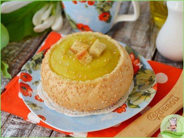 Суп из кабачков в хлебном горшочке - фото шаг 1