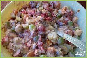 Фруктовый салат со сметаной - фото шаг 5