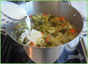 Крем-суп с брокколи и сыром - фото шаг 7