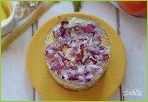 Мясной салат с колбасой - фото шаг 4