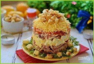 Мясной салат с колбасой - фото шаг 7