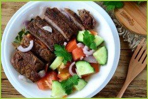 Салат из стейка с овощами - фото шаг 8