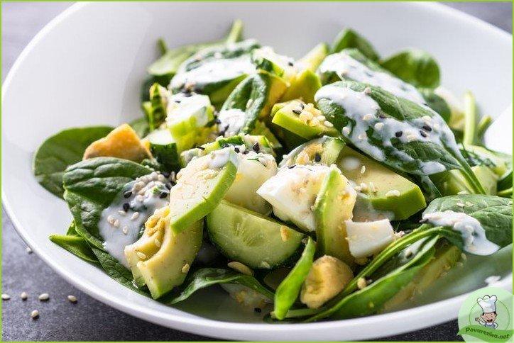 Салат с авокадо и огурцом - фото шаг 1