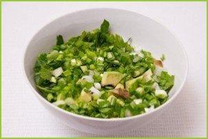 Салат с авокадо и огурцом - фото шаг 5