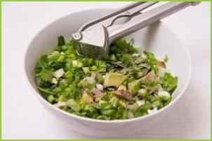 Салат с авокадо и огурцом - фото шаг 6
