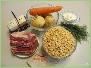 Гороховый суп-пюре с мясом - фото шаг 2