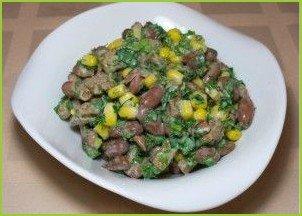 Фасолевый салат с грибами - фото шаг 5