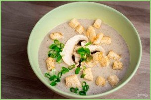 Грибной крем-суп с домашними гренками - фото шаг 6