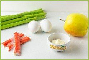 Крабовый салат с сельдереем - фото шаг 1
