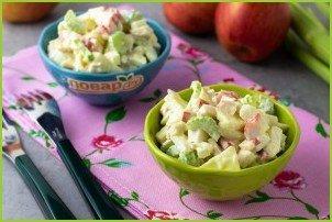 Крабовый салат с сельдереем - фото шаг 5