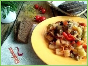 Овощное рагу с баклажанами и кабачками - фото шаг 6
